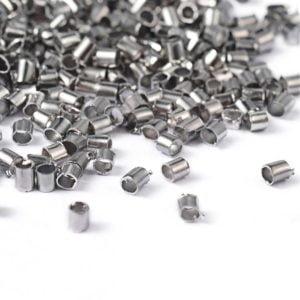 Knijpkralen zilverkleurig klein 1,5mm