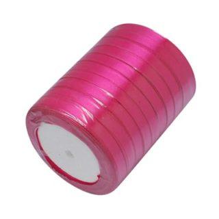 Rol lint roze 6mm fuchsia roze