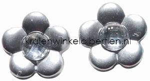 Cabochon zilver strass