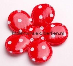 stoffen bloem rood