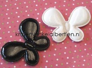 stoffen vlinder wit