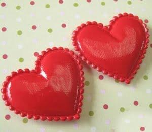 stoffen hartjes rood