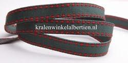 Band donker groen rood strepen