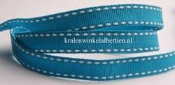 Band lint blauw met stiksel