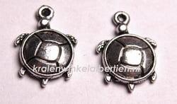 Tibetaans zilveren bedel schildpad
