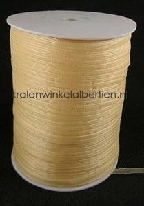 Organza lint 6mm goud beige crème