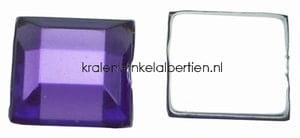 Strass steentjes vierkant paars 6mm sieraden maken zelf lijmen