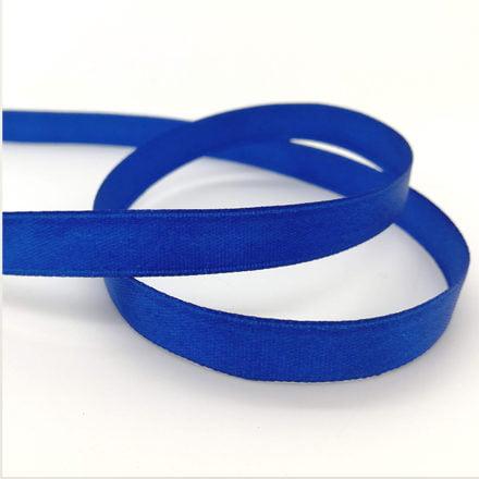 Blauw lint enkelzijdig satijn 6mm breed