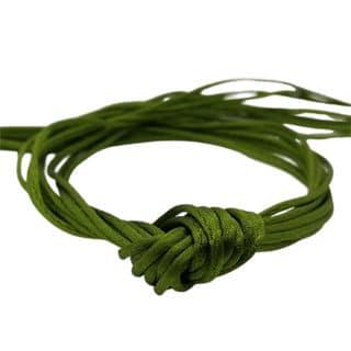 Satijn nylon koord 1mm olijf groen