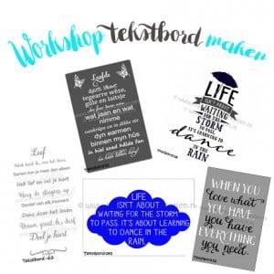 Workshop tekstbord maken