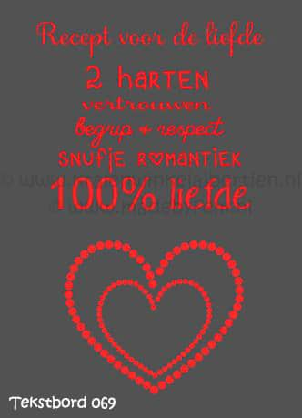 Tekstbord Liefde