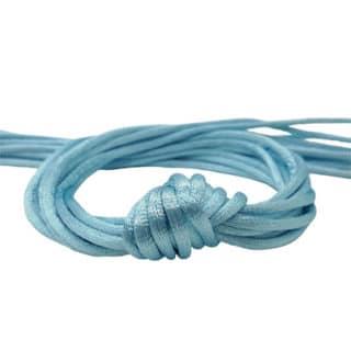 Satijnen nylon koord 2mm DIY sieraden knopen licht blauw