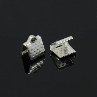 Lintklemmen zilver 8mm
