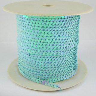Paillettenband lichtblauw ab