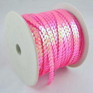 Paillettenband roze