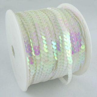 Paillettenband wit ab