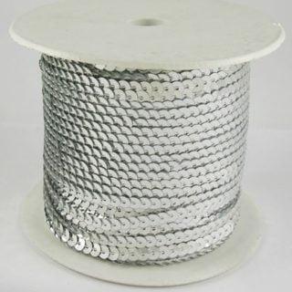 Paillettenband zilver
