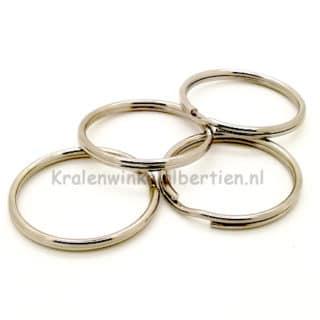 Grote dubbele sleutelring zilver 3.5cm sieraden maken met naam