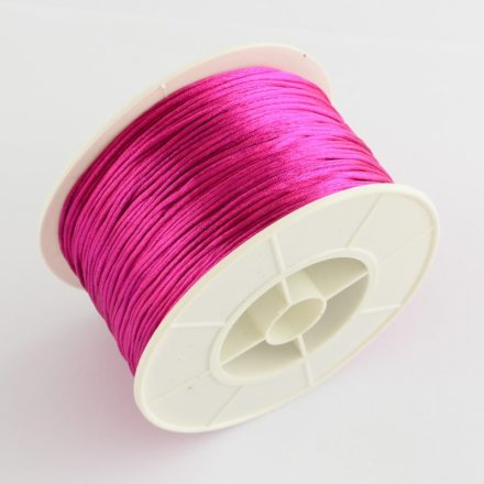 Satijnen nylon koord fuchsia 1mm rol
