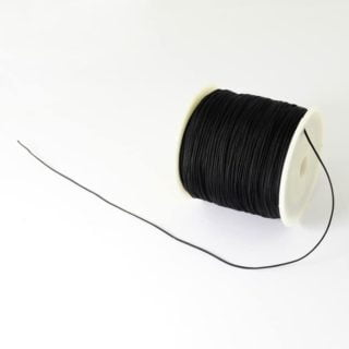 Nylon koord zwart 0.7mm