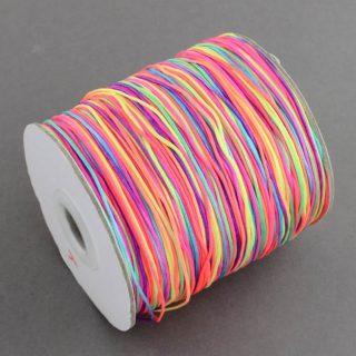 Regenboog nylon koord 1mm