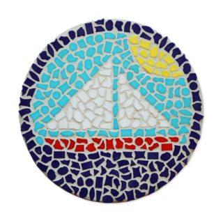 Mozaiek pakketje zeilboot