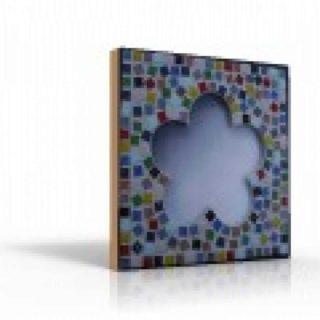 Mozaiek spiegel bloem