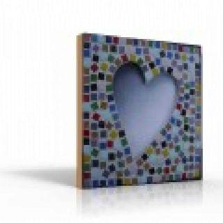 Mozaiek spiegel hart