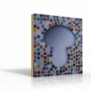 Mozaiek spiegel paddenstoel