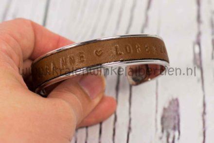 sieraden workshops friesland armband leer metaal