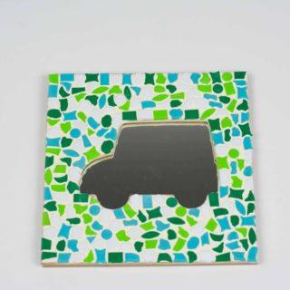 Mozaiek spiegel auto