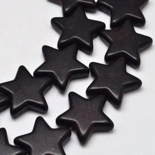 Gemstone kralen ster zwart