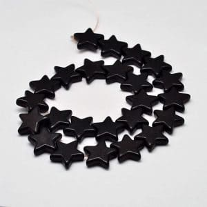Gemstone kralen zwart