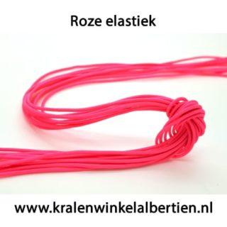 elastisch nylon roze