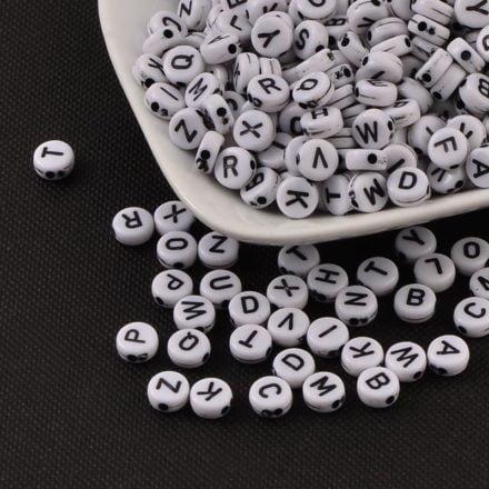 Alfabet kralen kunststof