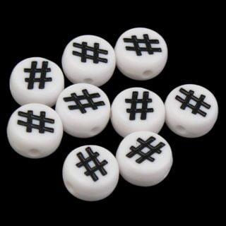 Hashtags kralen