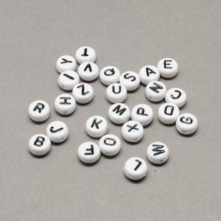 Witte letterkralen