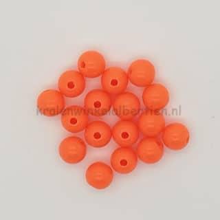 Kunststof acryl kralen 8mm rond oranje sleutelhangers maken groothandel verpakking