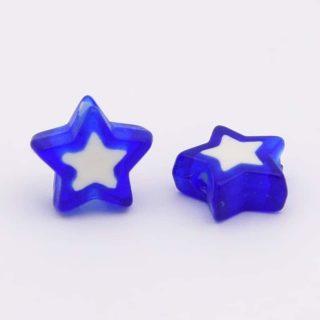 Goedkope kralen ster donkerblauw 10mm kralenwinkel Albertien