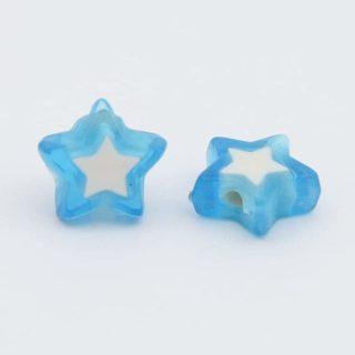 Kunststof kralen ster 10mm lichtblauw goedkope kralen kralenwinkel Albertien