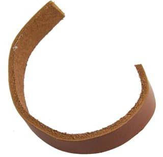 Bruin leren koord plat 10mm leer geschikt voor slagletters rundleer goedkoop