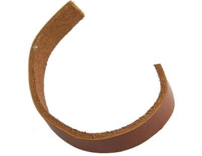 Echt leer koord bruin 10mm breed slagstempels