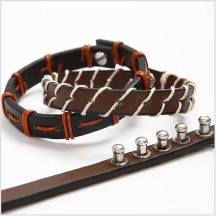 Metalen studs sluiting slotje voor leer armband