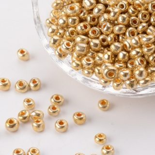 Seed beads kleine goudkleurige kraaltjes rocaille bulk