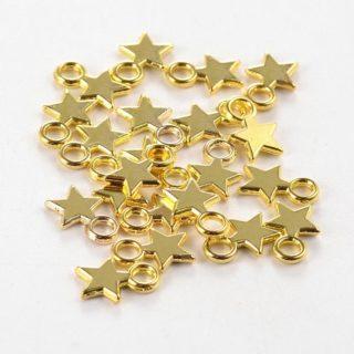 Gouden ster bedel tibetaans goudkleurige bedels goedkoop