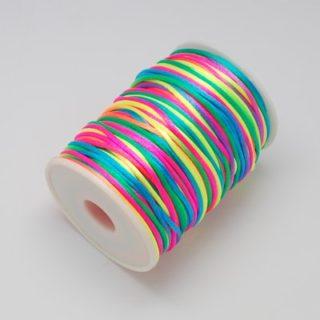 Nylon koord 2mm regenboog zijdekoord goedkoop rol