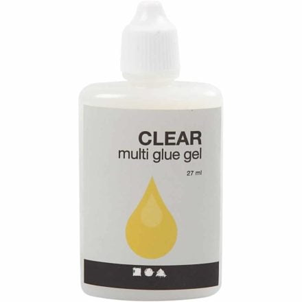 Sieradenlijm Clear Multi Glue gel transparant leer hout papier plastic sterkte lijm