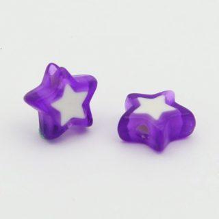 Ster kralen paars 10mm goedkope paarse kralen sterretjes kunststof