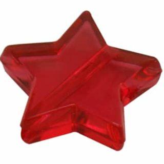 Ster kralen rood 15mm kunststof rode sterren goedkoop