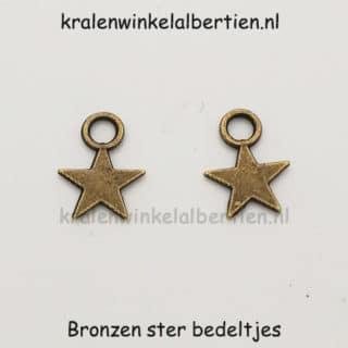 Sterretjes bedeltje brons nikkelvrij sieraden maken